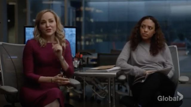 Fashion Trends 2021: Roland Mouret Witham Dress outfit seen on Marissa Morgan (Geneva Carr) in Bull S03E12