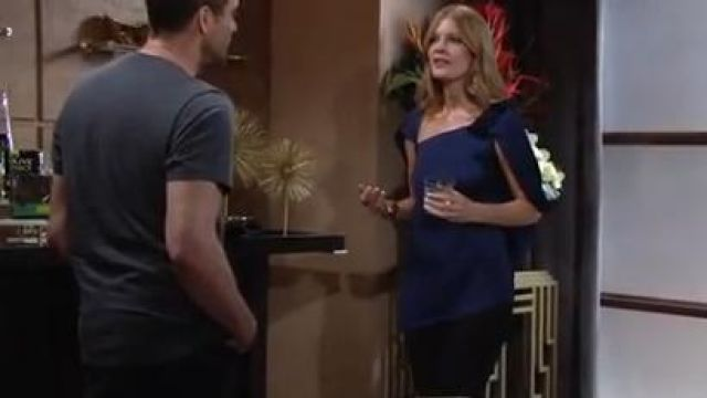 Roland mouret heartwall top outfit worn by Phyllis Summers (Michelle Stafford) as seen on The Young and the Restless October 11, 2019 - TV Show Outfits and Products
