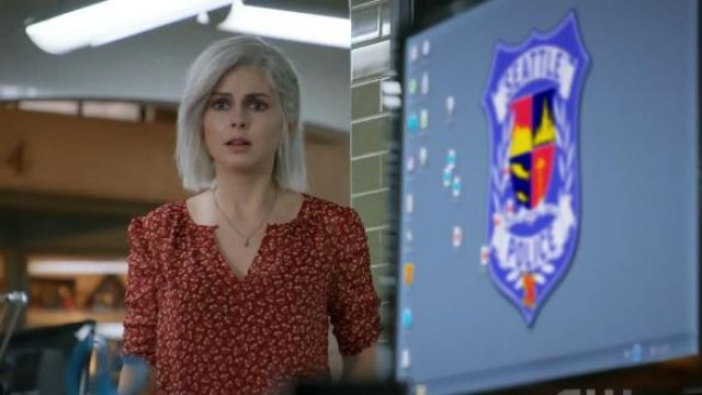 Ruched J. Crew Sleeve Top in Sparkle Floral outfit worn by Olivia Moore (Rose McIver) in iZombie (S05E01) (S05E01) - TV Show Outfits and Products