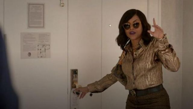 Saint Laurent Gold Serpent Buckle Belt outfit worn by Cookie Lyon (Taraji P. Henson) in Empire Season 06 Episode 06 - TV Show Outfits and Products