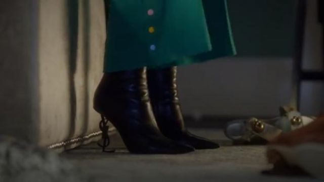 Saint Laurent Opyum YSL Bootie outfit worn by Zoey Johnson (Yara Shahidi) in grown-ish (Season 02 Episode 14) - TV Show Outfits and Products