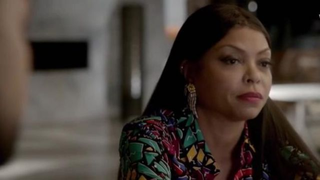 Saint Laurent Paris Collar 80s Graffiti Shirt outfit seen on Cookie Lyon (Taraji P. Henson) in Empire (S03E07) - TV Show Outfits and Products