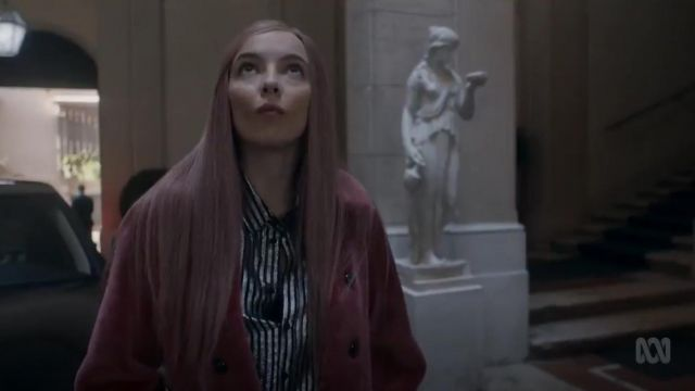 Saint Laurent Semi Sheer Striped Shirt outfit worn by Villanelle (Jodie Comer) in Killing Eve (S02E07) - TV Show Outfits and Products
