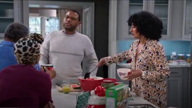 Saloni Jolie Shirtdress outfit worn by Rainbow Johnson (Tracee Ellis Ross) in black-ish (S02E10) - TV Show Outfits and Products