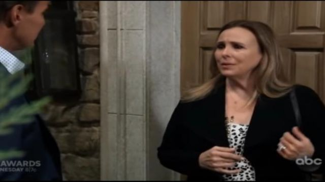 Sanctuary Animal Print Camisole outfit worn by Laura Collins (Genie Francis) as seen on General Hospital November 6, 2019 - TV Show Outfits and Products