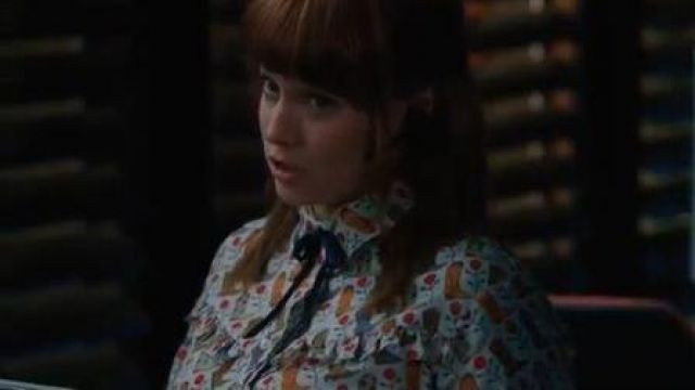 Sandro Paris Cowboy Boot Print Blouses outfit worn by Nell Jones (Renée Felice Smith) in NCIS: Los Angeles Season 11 Episode 08 - TV Show Outfits and Products