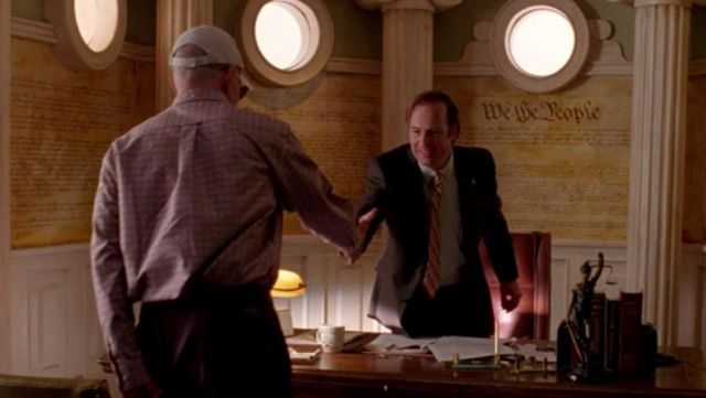 Fashion Trends 2021: Scales of justice, office of Saul Goodman (Bob Odenkirk) on Breaking Bad Season 2 Episode 8