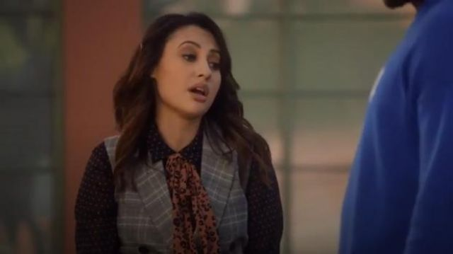 Scotch & Soda Mixed Print Bow Blouse outfit worn by Ana Torres (Francia Raisa) in grown-ish (Season 02 Episode 14) - TV Show Outfits and Products