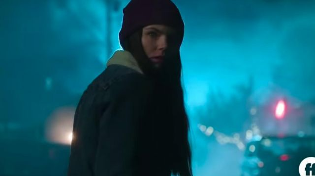 Shearling Lined Denim Jacket outfit worn by Ryn (Eline Powell) in Siren (Season 2) - TV Show Outfits and Products