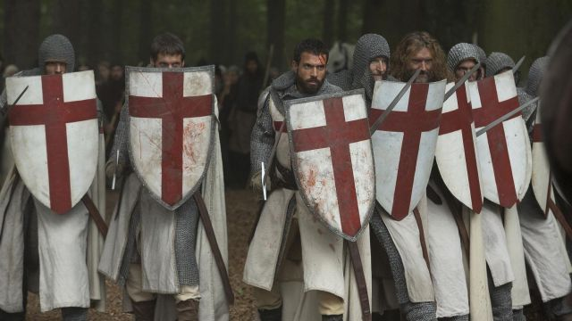 Fashion Trends 2021: Shield of the Order of the Temple of Landry (Tom Cullen) seen in Knightfall
