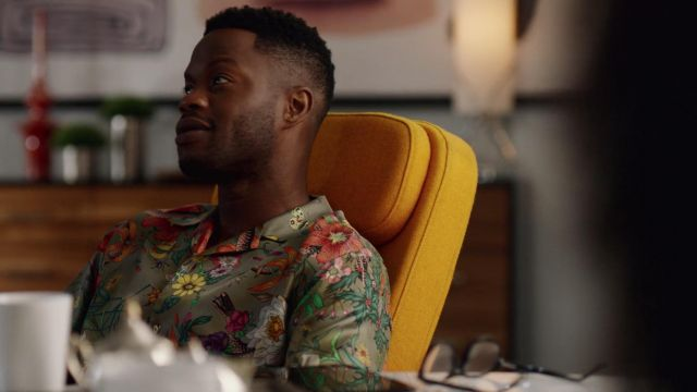 Shirt flowers Gucci outfit worn by Jeff Colby (Sam Adegoke) seen in Dynasty Season 2 Episode 2 - TV Show Outfits and Products