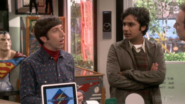 Shirt from Urban Outfitters outfit worn by Howard Wolowitz (Simon Helberg) The Big Bang Theory S12 Episode 2 - TV Show Outfits and Products