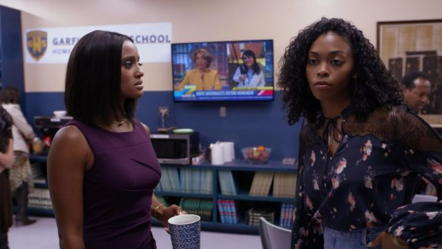 Shirt with flowers and lace, All Saints outfit worn by Anissa Pierce (Nafessa Williams) seen in Black Lightning Season 1 Episode 6 - TV Show Outfits and Products