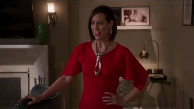 Sies Marjan Drape Sleeve Fitted Dress outfit worn by Diana Trout (Miriam Shor) in Younger (Season 06 Episode 05) - TV Show Outfits and Products