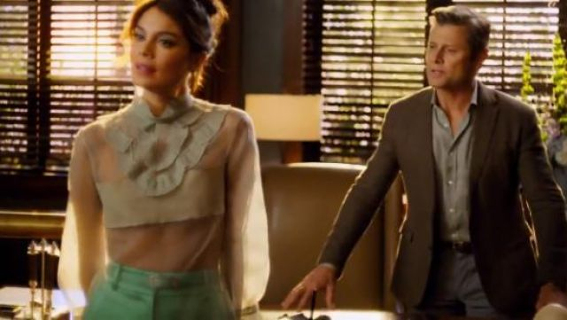 Sies Marjan Tatum Satin Trousers outfit seen on Cristal Jennings (Ana Brenda Contreras) in Dynasty (S01E19) - TV Show Outfits and Products