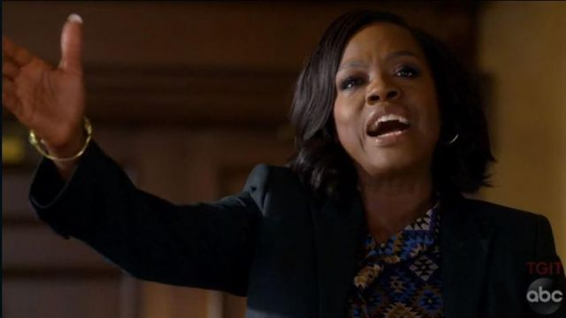 Silk blouse of Annalise Keating (Viola Davis) seen in How to get away with Murder (Season 5 Episode 5) - TV Show Outfits and Products