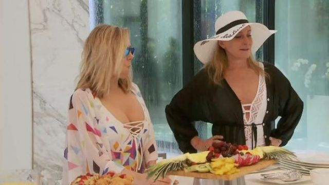 Fashion Trends 2021: Sinja Morgan Crochet Back Tie One Piece outfit worn by Herself (Sonja Morgan) in The Real Housewives of New York City (Season 11 Episode 14)