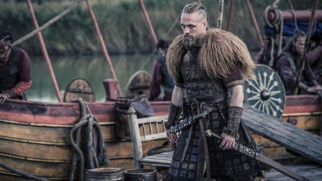 Skirt reinforced Erik (Christian Hillborg) seen in The Last Kingdom Season 2 Episode 5 - TV Show Outfits and Products