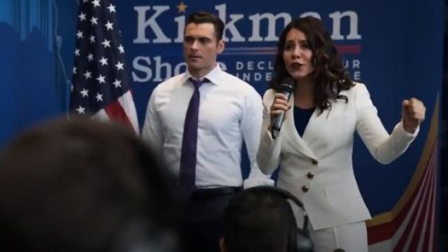 Smythe Double-Breasted Three-Button Wrap Blazer outfit worn by Isabel Pardo (Elena Tovar) in Designated Survivor (Season 03 Episode 09) - TV Show Outfits and Products
