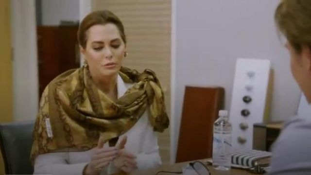 Snakeskin Print Scarf outfit worn by D'Andra Simmons in The Real Housewives of Dallas Season04 Episode06 - TV Show Outfits and Products