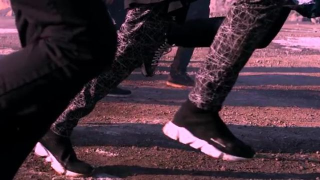 Sneakers Balenciaga in the clip Not Today BTS - Youtube Outfits and Products