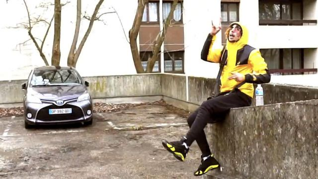 """Sneakers Nike Air Jordan 14 Retro """"thunder"""" black and yellow of Badjer in the clip The dose is 5 - Youtube Outfits and Products"""