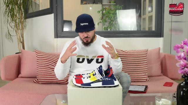 """Sneakers adidas NMD Hu Pharrell x Billionaire Boys Club Multi Color Tonton Gibs in BBC X ADIDAS NMD HU TRAIL """"HEART MIND"""" ???? - Youtube Outfits and Products"""