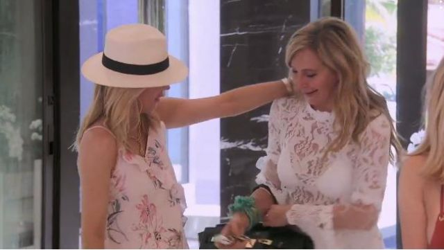 Sonja by Sonja MOrgan Lace Bell Sleeve Crop Top outfit worn by Herself (Sonja Morgan) in The Real Housewives of New York City (S11E15) - TV Show Outfits and Products