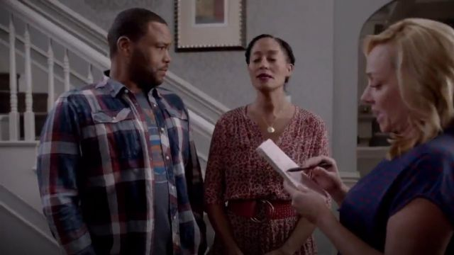 Sportiqe N.Y Knicks Tee outfit worn by Andre 'Dre' Johnson (Anthony Anderson) in black-ish (S02E02) - TV Show Outfits and Products