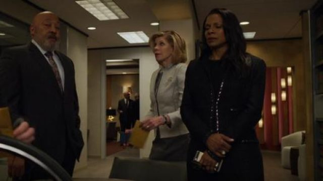 St. John Adina Knit Dress outfit worn by Liz Reddick-Lawrence (Audra McDonald) in The Good Fight (S03E10) - TV Show Outfits and Products