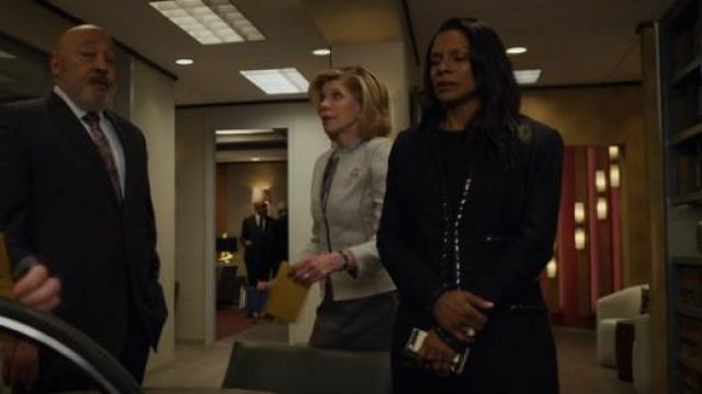 St. John Adina Knit Jacket outfit worn by Liz Reddick-Lawrence (Audra McDonald) in The Good Fight (S03E10) - TV Show Outfits and Products