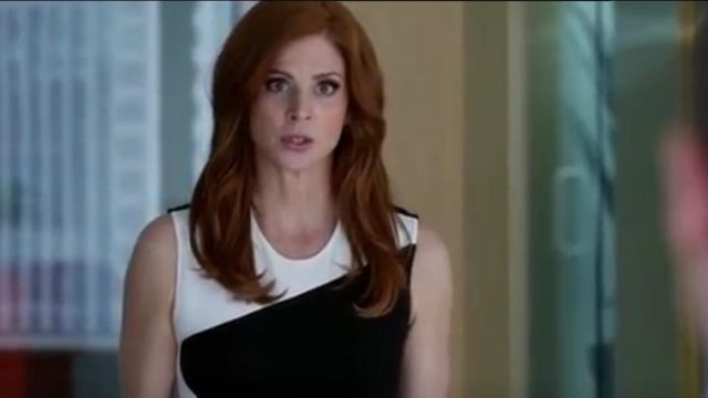 Fashion Trends 2021: Stella McCartney Compact Jersey Dress outfit seen on Donna Paulsen (Sarah Rafferty) in Suits (S03E15)