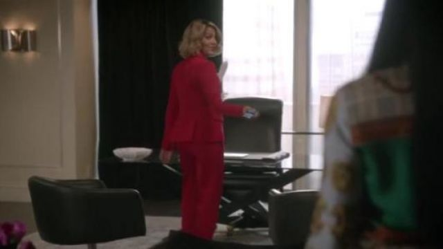 Fashion Trends 2021: Stella McCartney Flat-Front Slim-Leg Ankle Pants outfit seen on Nicole Ari Parker in Empire (S05E12)