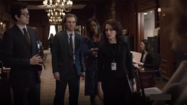 Fashion Trends 2021: Stella McCartney Lucy Skirt outfit seen on Daisy Grant (Patina Miller) in Madam Secretary (S01E18)