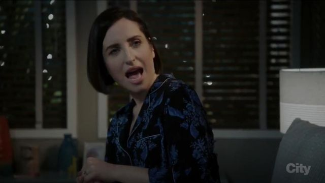 Fashion Trends 2021: Stella McCartney Poppy Snoozing PJ Set outfit worn by Jen (Zoe Lister-Jones) in Life in Pieces (S03E14)