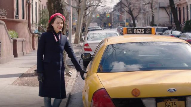 Fashion Trends 2021: Stella McCartney Stripe Ribbed Collar Wool Twill Coat outfit worn by Cara Bloom (Violett Beane) in God Friended Me (S01E20)