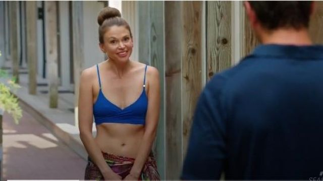 Fashion Trends 2021: Stella McCartney Timeless Basics Wrap Bikini Top outfit worn by Liza Miller (Sutton Foster) in Younger (S03E11) (S03E11)