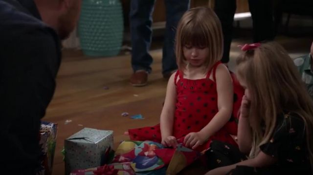 Fashion Trends 2021: Stella mccartney baby girl's bonny ladybug sleeveless outfit worn by Lark (Ana Sophia Hager) in Life in Pieces Season 4 Episode 6