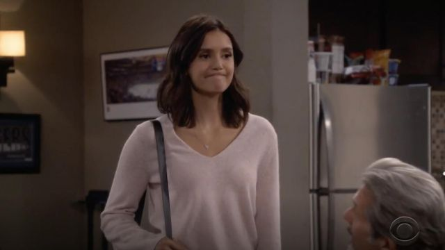 Fashion Trends 2021: Stephanie Gottlieb Small Pave Heart Necklace outfit seen on Clem (Nina Dobrev) in Fam S01E02