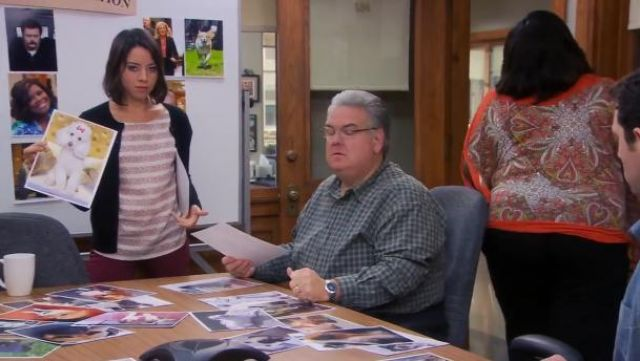 Steven Alan Martine Top outfit worn by April Ludgate (Aubrey Plaza) in Parks and Recreation (S06E08) - TV Show Outfits and Products