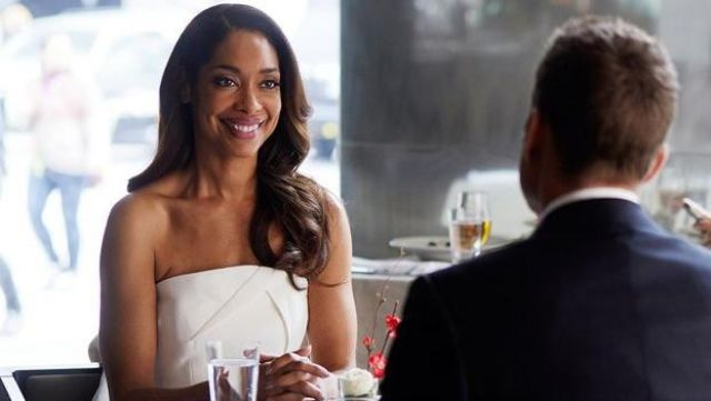 Fashion Trends 2021: Strapless Dress in wool crepe Roland Mouret Jessica Pearson (Gina Torres) on Suits Season 7 Episode 4