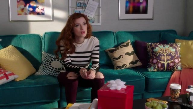 Striped sweater in merino wool Rag & Bone Paige Townsen (Bella Thorne) seen in Famous in Love Season 2 Episode 3 - TV Show Outfits and Products