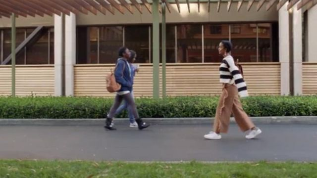 Striped sweater of Zoey Johnson (Yara Shahidi) seen in Grown-ish Season 1 Episode 6 - TV Show Outfits and Products