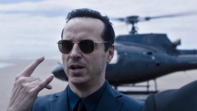 Sunglasses Liberty London outfit worn by professor Moriarty (Andrew Scott) seen in Sherlock Season 4 Episode 3 - TV Show Outfits and Products