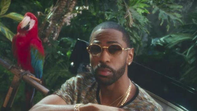 Sunglasses and eyeglasses gold oval Big Sean in the clip Feels Calvin Harris - Youtube Outfits and Products