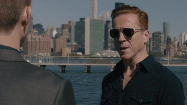 Sunglasses aviator Randolph Engineering Bobby Axelrod (Damian Lewis) seen in Trillion Season 3 Episode 2 - TV Show Outfits and Products