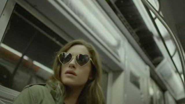 "Sunglasses """" heart Emblem Eyewear Darlene Alderson (Carly Chaikin) on the Mr Robot Season 3 Episode 8 - TV Show Outfits and Products"