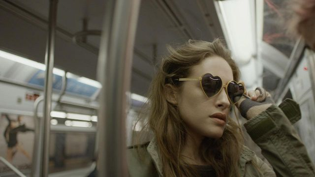 """Sunglasses """"heart"""" of Darlene Alderson (Carly Chaikin) on the Mr Robot Season 3 Episode 8 - TV Show Outfits and Products"""