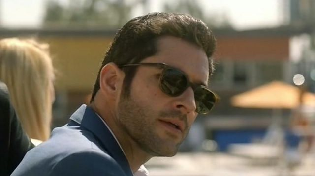 Sunglasses in acetate of Lucifer Morningstar (Tom Ellis) seen in Lucifer Season 2E17 - TV Show Outfits and Products