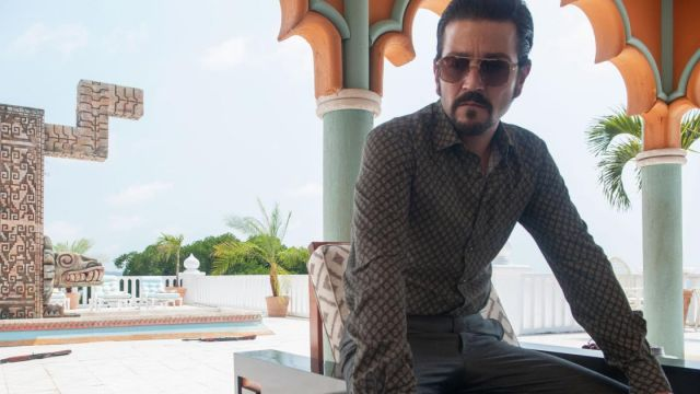 Sunglasses outfit worn by Miguel Ángel Félix Gallardo Scoot McNairy (Diego Luna) as seen in Marcos: Mexico S01E10 - TV Show Outfits and Products